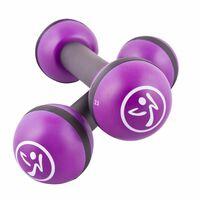 Zumba Gantere pentru tonifiere, 2 buc., 2 kg, violet, ZUM011