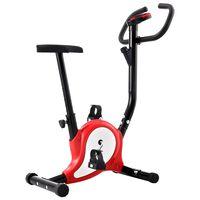 vidaXL Bicicletă fitness cu centură de rezistență, roșu