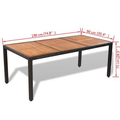 vidaXL Set mobilier de exterior cu perne, 9 piese, poliratan