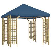 vidaXL Pavilion, albastru, 3 x 3 m (310032+47712)