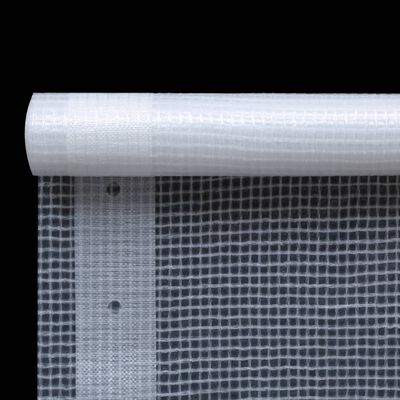 vidaXL Prelată Leno 260 g/m², alb, 4 x 10 m