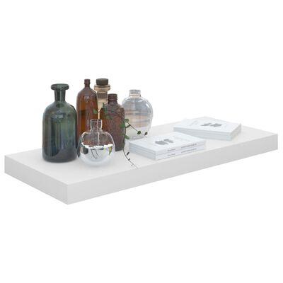 vidaXL Rafturi de perete, 4 buc., alb extralucios, 60x23,5x3,8 cm, MDF