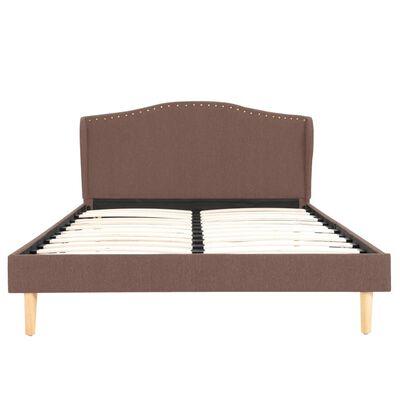 vidaXL Cadru de pat, maro, 120 x 200 cm, material textil