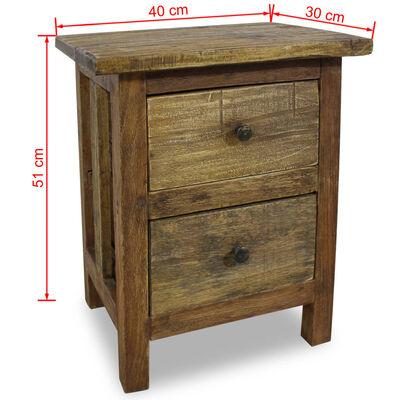 vidaXL Noptieră din lemn masiv reciclat 40 x 30 x 51 cm