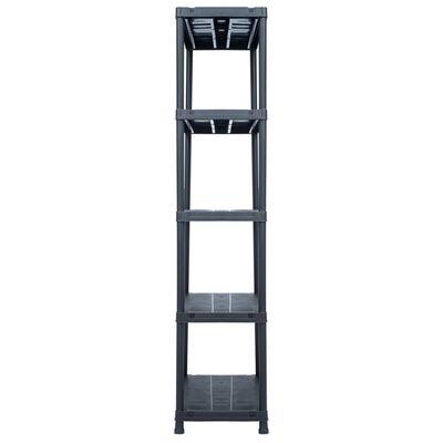 vidaXL Raft de depozitare, negru, 90 x 60 x 180 cm, plastic, 500 kg