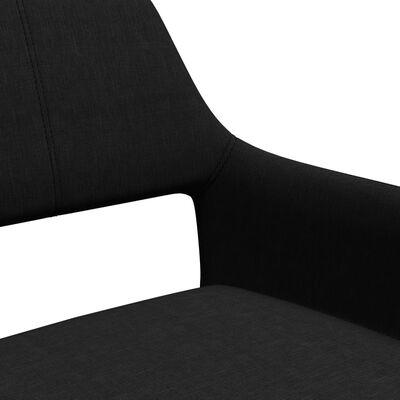 vidaXL Scaune de bucătărie, 4 buc., negru, material textil