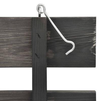 vidaXL Magazie de pubele triplă, 210x75x121 cm, lemn masiv pin vopsit