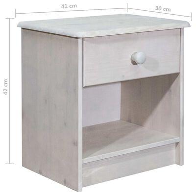 vidaXL Noptieră, 41x30x42 cm, lemn masiv de pin