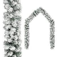 vidaXL Ghirlandă de Crăciun cu zăpadă, verde, 20 m, PVC