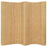 vidaXL Paravan de cameră, natural, 250 x 165 cm, bambus