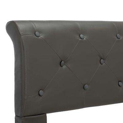 vidaXL Cadru de pat, gri, 180 x 200 cm, piele ecologică
