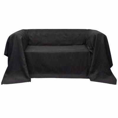 Husă din velur microfibră pentru canapea 210 x 280 cm Antracit