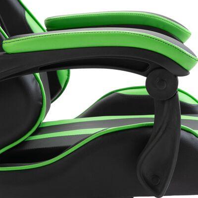 vidaXL Scaun pentru jocuri, verde, piele ecologică