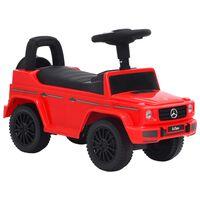 vidaXL Mașinuță pentru pași Mercedes-Benz G63, roșu
