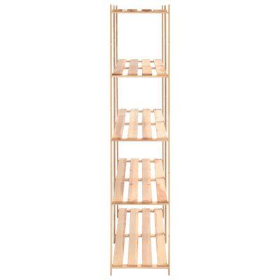 vidaXL Etajere cu 5 rafturi, 2 buc, 170x38x170 cm, lemn de pin, 500 kg