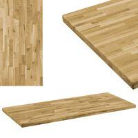 vidaXL Blat masă, lemn masiv de stejar, dreptunghiular, 44mm 140x60cm