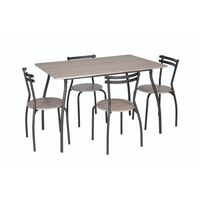 Unic Spot RO, Set masa Vega cu 4 scaune stejar antichizat, 120x80x76cm
