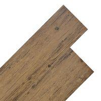 vidaXL Plăci de pardoseală, maro nuc, 4,46 m², PVC, 3 mm