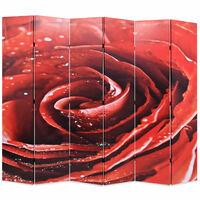 vidaXL Paravan de cameră pliabil, 228 x 170 cm, trandafir roșu