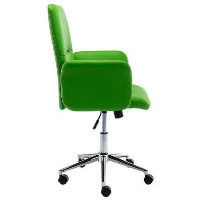 vidaXL Scaun de birou, verde, piele ecologică