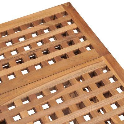 vidaXL Set mobilier exterior pliabil cu perne, 3 piese, lemn masiv tec