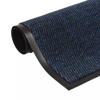 vidaXL Covor de ușă anti-praf, dreptunghiular, 90 x 150 cm, albastru