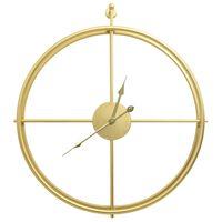 vidaXL Ceas de perete, auriu, 52 cm, fier
