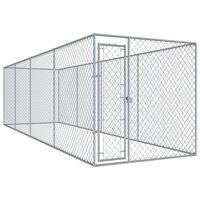 vidaXL Padoc pentru câini de exterior, 760x192x185 cm