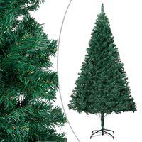 vidaXL Pom de Crăciun artificial cu ramuri groase, verde, 150 cm, PVC