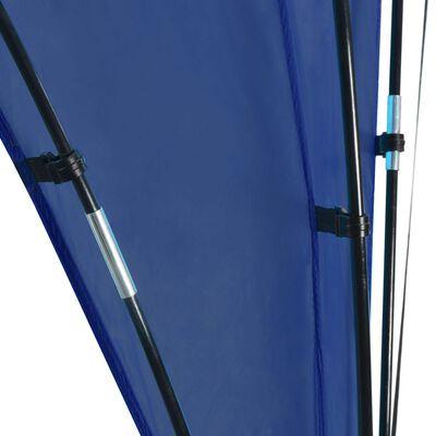 vidaXL Cort petrecere cu arcadă, albastru închis, 450x450x265 cm