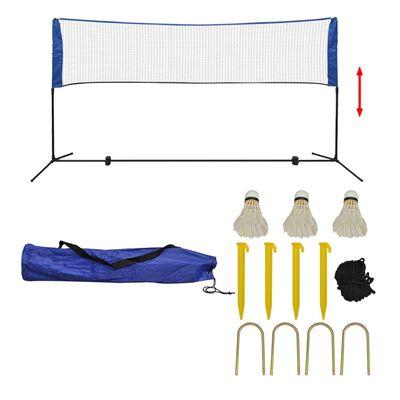 vidaXL Set fileu de badminton, cu fluturași, 300x155 cm,