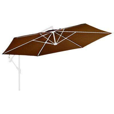 vida XL Pânză de schimb umbrelă de soare consolă, cărămiziu, 350 cm