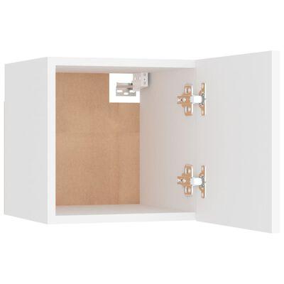 vidaXL Noptiere, 2 buc., alb, 30,5x30x30 cm, PAL