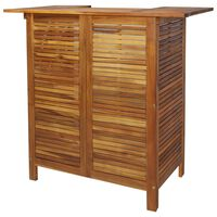 vidaXL Masă de bar, 110 x 50 x 105 cm, lemn masiv de acacia