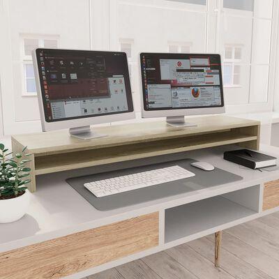 vidaXL Suport monitor, stejar Sonoma, 100 x 24 x 13 cm, PAL