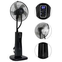 vidaXL Ventilator cu ceață, piedestal și telecomandă, negru