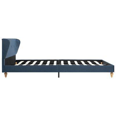 vidaXL Cadru de pat, albastru, 120 x 200 cm, material textil