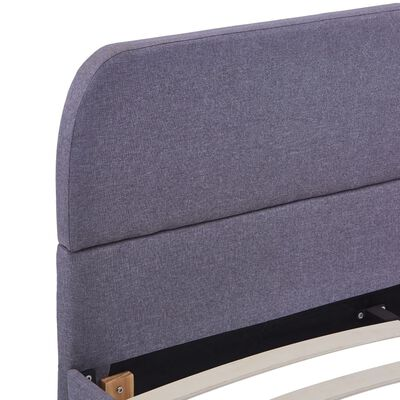 vidaXL Cadru de pat, gri deschis, 140 x 200 cm, material textil