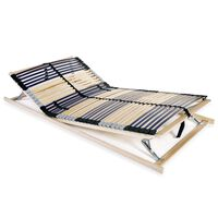 vidaXL Bază de pat cu șipci, 42 șipci, 7 zone, 140 x 200 cm