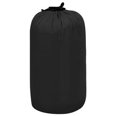 vidaXL Sac de dormit ușor pentru copii tip plic, negru, 670 g, 15°C