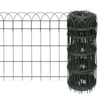 vidaXL Gard delimitare grădină fier vopsit electrostatic 25 x 0,65 m
