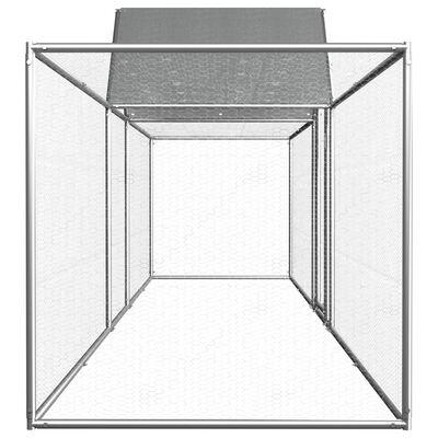 vidaXL Coteț pentru păsări, 5 x 1 x 1,5 m, oțel galvanizat