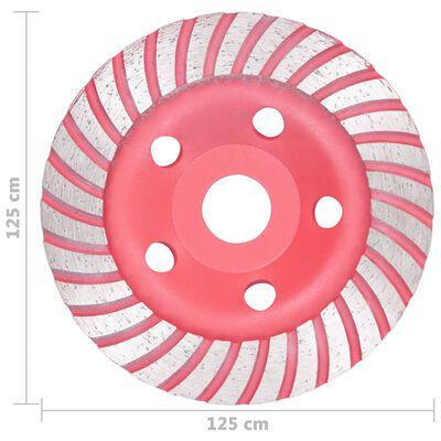vidaXL Disc de polizare diamantat tip cupă, cu turbo, 125 mm
