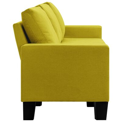 vidaXL Canapea cu 5 locuri, galben, material textil