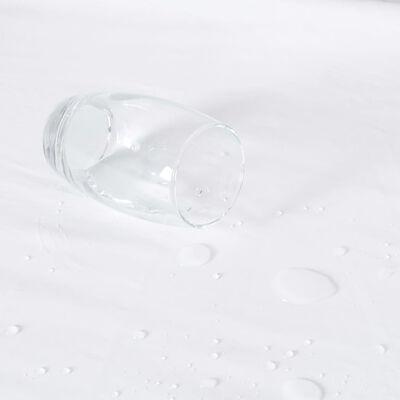 vidaXL Protecții saltea impermeabile, 2 buc., alb, 180x200 cm, bumbac