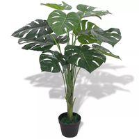 vidaXL Plantă artificială Monstera cu ghiveci 70 cm, verde