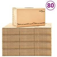vidaXL Cutii pentru mutare din carton XXL 80 buc., 60 x 33 x 34 cm