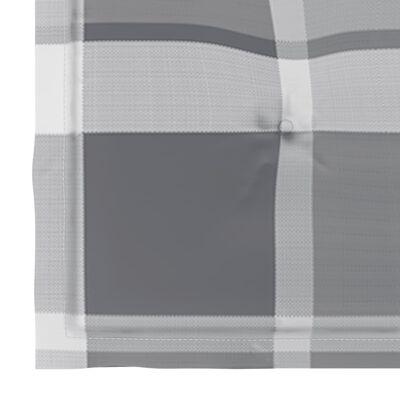 vidaXL Perne scaun de grădină, 4 buc., gri carouri, 50x50x4 cm, textil
