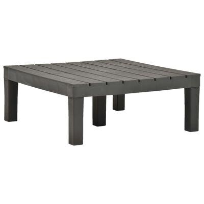 vidaXL Set mobilier de grădină, 5 piese, antracit, plastic