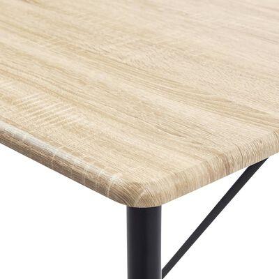vidaXL Set mobilier de bar, 5 piese, verde, piele ecologică